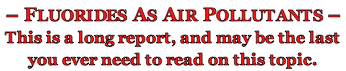 f. as air pollutants