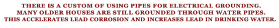 Water pipes grounding -lead s