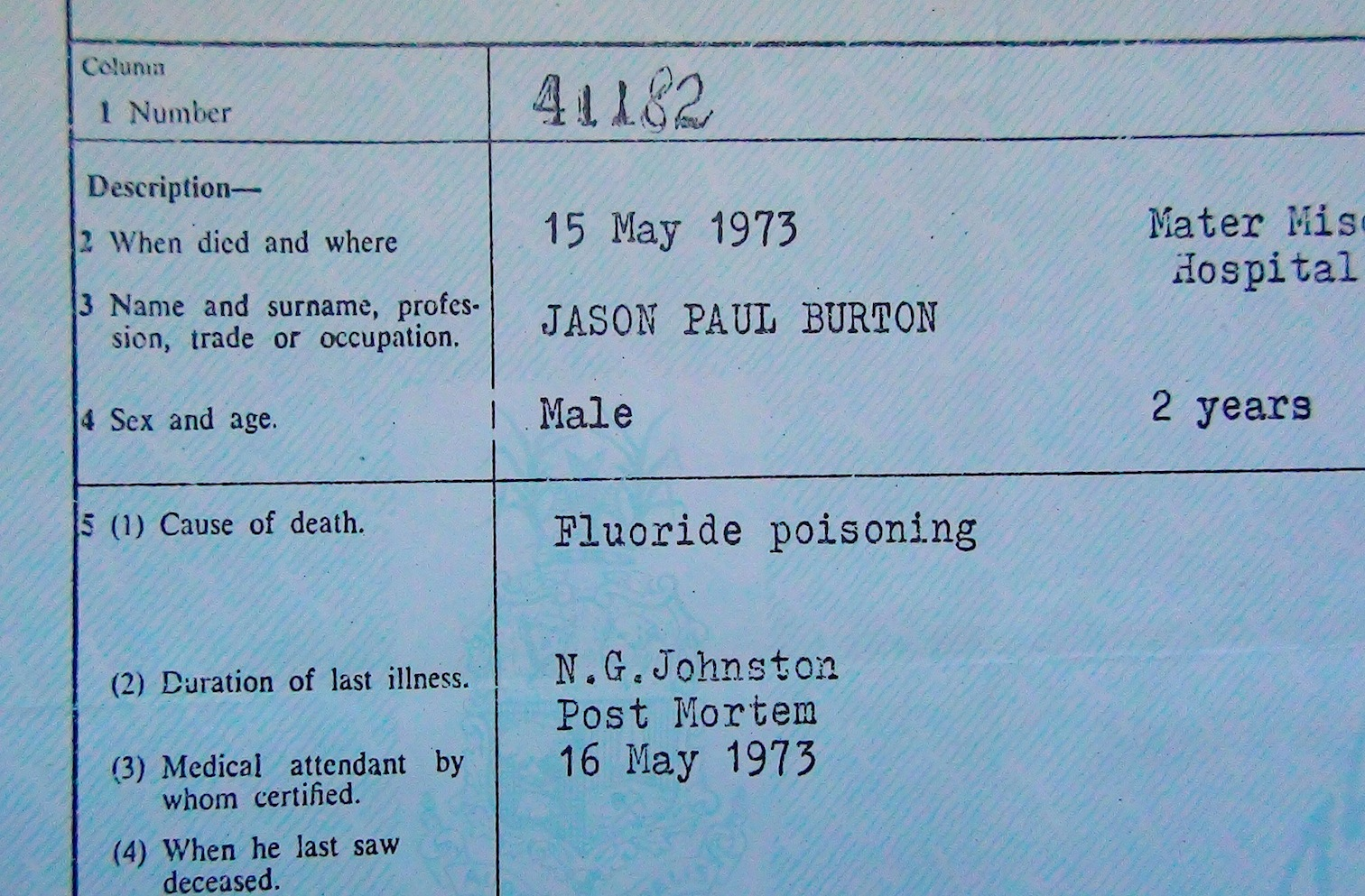 Death Cert Jason extract