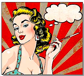 smoking lady cartoon