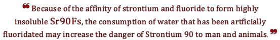 F. & Strontium 90