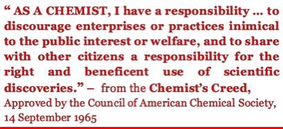 As a Chemist...