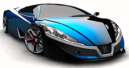 fast-blue-car