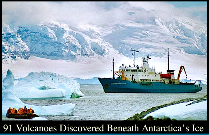volcano in west antarctica A group of scientists at the university of rhode island stumbled on something unexpected when analyzing data brought back from a 2014 expedition to western antarctica scientists found an abundance of the noble gas helium-3, indicating there is a volcanic heat source beneath the pine island glacier .