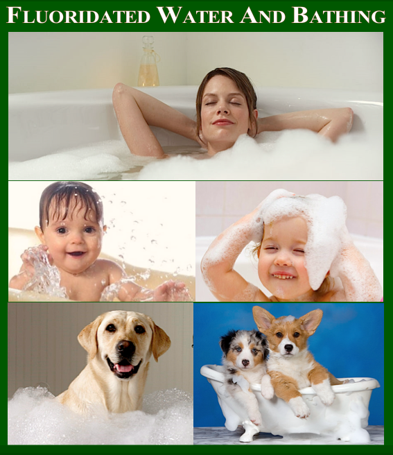 FLUORIDATED WATER AND BATHING IMAGES